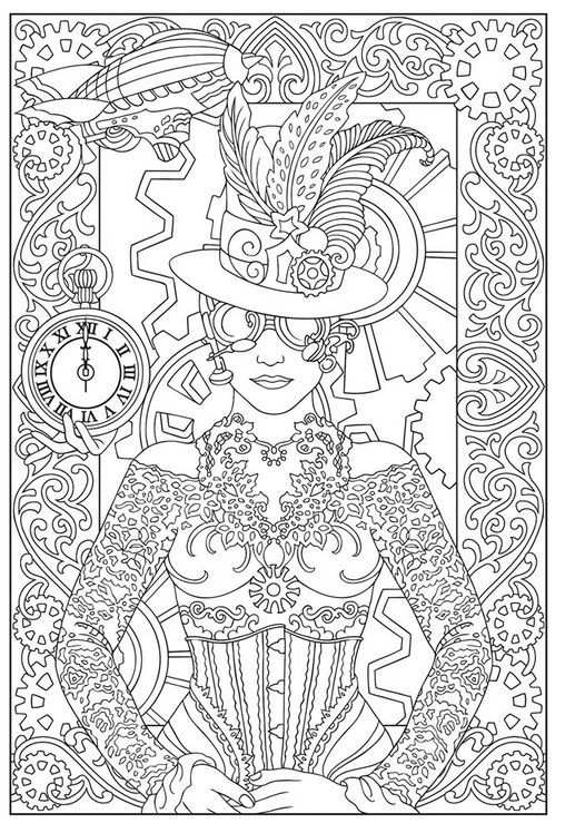 free steampunk coloring pages simply inspired