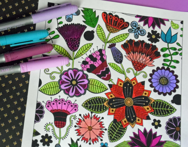 Download A Free Floral Coloring Book From Lilt Kids Simply Inspired