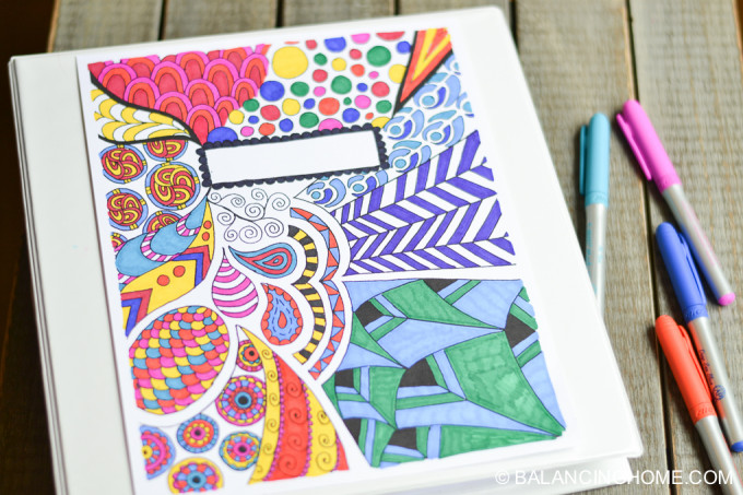 5 sources for free binder covers to color simply inspired